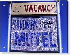 Vacancy Sign Acrylic Print