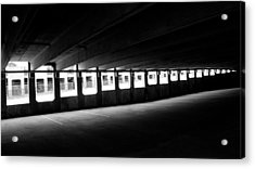 Vacant Parking Garage Acrylic Print by Ahmed Hashim