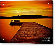Vacant Sunset Acrylic Print by Mark Miller