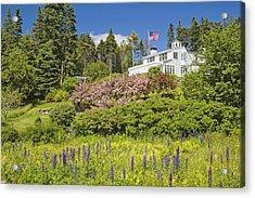 Vacation House On Coast Of Maine Acrylic Print by Keith Webber Jr