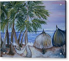 Acrylic Print featuring the painting Vacation by Leslie Manley