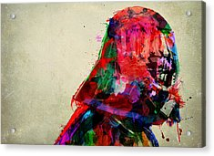 Vader In Color And Thought Acrylic Print by Mitch Boyce