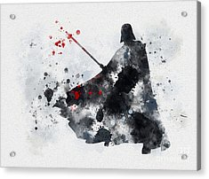Vader Acrylic Print by Rebecca Jenkins