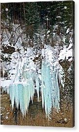 Vail Ice Falls Acrylic Print by David Salter