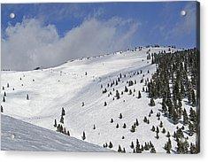Vail Resort - Colorado - Blue Sky Basin Acrylic Print by Brendan Reals