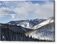 Vail Valley From Ski Slopes Acrylic Print by Brendan Reals