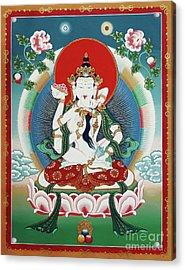 Vajrasattva Yuganadha  Acrylic Print by Sergey Noskov