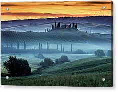 Val D'orcia Acrylic Print by Evgeni Dinev