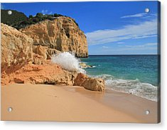 Vale De Centeanes Acrylic Print by Carl Whitfield