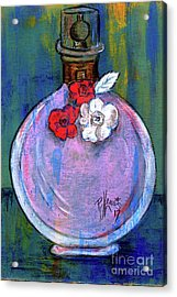 Acrylic Print featuring the painting Valentina by P J Lewis