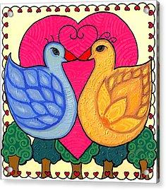 Valentine Birds Acrylic Print