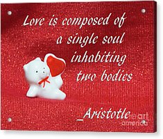 Acrylic Print featuring the photograph Valentine By Aristotle by Linda Phelps