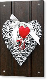 Acrylic Print featuring the photograph Valentine Heart by Juergen Weiss