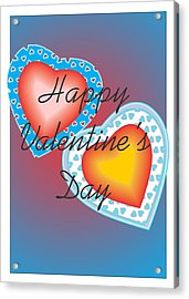 Valentine Lace Acrylic Print by Sherril Porter