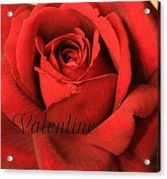 Valentine Acrylic Print by Marna Edwards Flavell