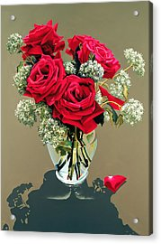 Valentine Roses Acrylic Print by Ora Sorensen