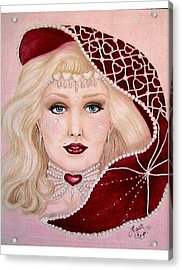 Valentine Acrylic Print by Scarlett Royal