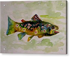 Valentine Trout Acrylic Print by Delilah  Smith