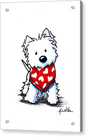 Valentine Westie Acrylic Print