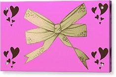 Valentines Bow Acrylic Print