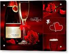 Valentine's Collage Photo Acrylic Print by Serena King