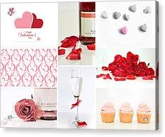 Valentine's Collage Acrylic Print