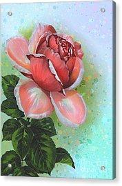 Acrylic Print featuring the digital art  Valentine's Day by Andrzej Szczerski