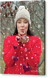 Acrylic Print featuring the photograph Valentines Kisses... by Nina Stavlund