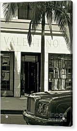 Valentino On Rodeo Drive Acrylic Print by Gwyn Newcombe