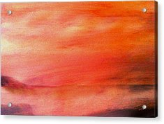 Valley At Sunset Acrylic Print