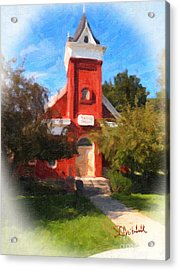 Valley Chapel Acrylic Print