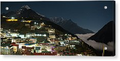 Acrylic Print featuring the photograph Valley Clouds In Namche Bazaar by Owen Weber