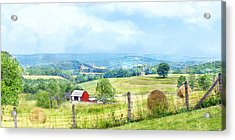 Valley Farm Acrylic Print