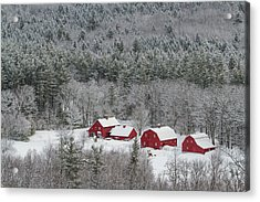 Valley Farm In Winter Acrylic Print
