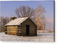 Valley Forge Cabin At Sunset Acrylic Print