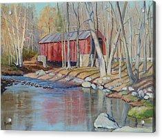 Valley Forge Covered Bridge Acrylic Print by Bonita Waitl