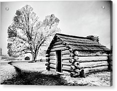 Acrylic Print featuring the photograph Valley Forge Winter Troops Hut                           by Paul W Faust - Impressions of Light