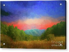 Valley In The Cove Acrylic Print by Geraldine DeBoer