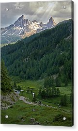 Valley In The French Alps Acrylic Print