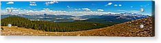 Valley Of 14ers Panorama Acrylic Print by Jeremy Rhoades
