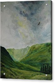 Valley Of Eagles Acrylic Print