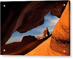 Valley Of Fire Look Through Acrylic Print by Gary Warnimont