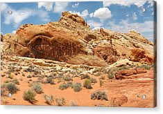 Valley Of Fire Acrylic Print by Mary Lane
