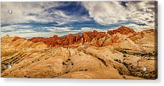 Valley Of Fire Panorama Acrylic Print by Rikk Flohr