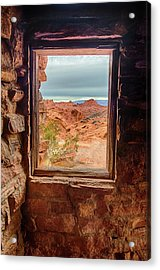 Valley Of Fire Window View Acrylic Print