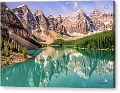 Acrylic Print featuring the photograph Valley Of Ten Peaks by Claudia Abbott