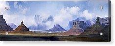 Valley Of The Gods Acrylic Print by Leland D Howard