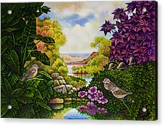 Valley Of The Sparrows Acrylic Print by Michael Frank