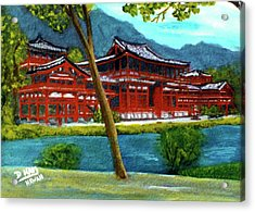 Valley Of The Temples Buddhist Temple #73 Acrylic Print by Donald k Hall