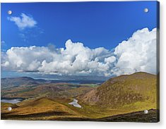 Valleys And Mountains In County Kerry On A Summer Day Acrylic Print by Semmick Photo